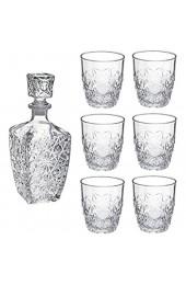 Bormioli Rocco Dedalo Glass Decanter 800ml 6Glasses 260ml