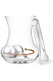 Final Touch RUMROLLER Rum Gläser bauchige form Edelstahl Bälle & Zangen Set GR520