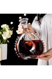 Louis XIII Leere Weinflasche Stil der 1920er Jahre Cognac oder Whisky Decanter Sealed Glasweinflasche mit Deckel 750ml Eisskulptur Dekantierer