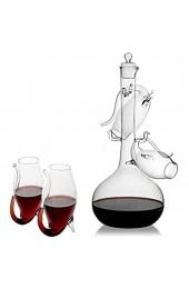 Porto Dekanter-Set Portweingläser Weinflaschen-Set mit Port-Dekanter