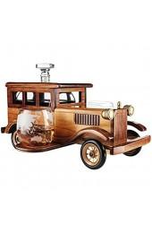 YAOJIA Karaffe Altmodischer Auto Whisky Dekanter Set Mit 2-10oz Whisky Tumbler Alte Modebrille |750ml Dekanter. Dekantierer