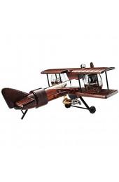 YAOJIA Karaffe Whisky Decanter Flugzeug Set Und Gläser Antikes Holz Flugzeug |Weingeschenkwein-Zubehör Dekantierer