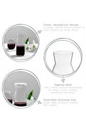Argon Tableware 2 Stück Brocca Glas Wasser Karaffe mit Deckel Set - Karaffe Krug für Wasser Wein Eistee - 1.2L
