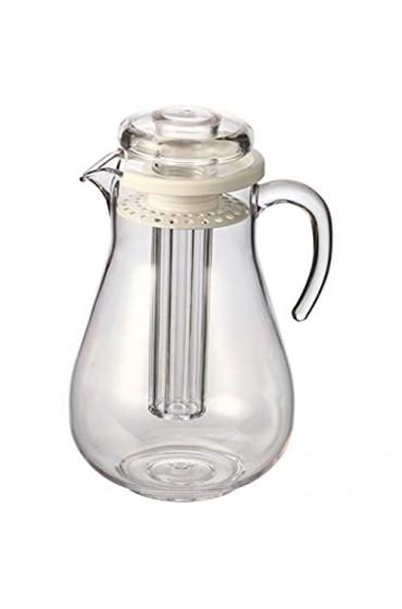 bremermann Aroma- und Kühlkrug mit Kühlstab und Sieb 2 8 Liter Kühlkaraffe (Weiß)