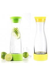 HI 13082 Wasserkaraffe Karaffe Saftkrug Krug aus Glas mit Kühlakku 1 25L
