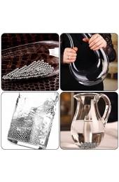 IWILCS 2000Stück Reinigungsperlen aus rostfreiem Edelstahl Reinigungskugeln Set Kugeln zur Reinigung von Flaschen mit Silikonlufttrockner für Karaffen Vasen Flaschen