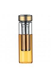 Justfwater Trinkflasche Glas Teebereiter Tee-Flasche mit Sieb Fruit Infuser Wasserflasche BPA-Frei