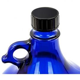 LGL Haushaltswaren Deckel für Blaue Glasballonflasche mit 5 Liter Fassungsvermögen/Kunststoff Schraubverschluss schwarz/Verschluss für Flasche/Flaschendeckel