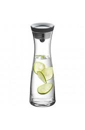 WMF Basic Wasserkaraffe aus Glas 1 Liter Glaskaraffe mit Deckel Silikondeckel CloseUp-Verschluss
