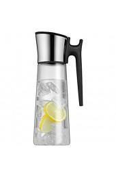WMF Basic Wasserkaraffe Set 3-teilig Karaffe 1 5l mit 2 Wassergläser 250ml Glaskaraffe mit Deckel und Griff Silikondeckel CloseUp-Verschluss