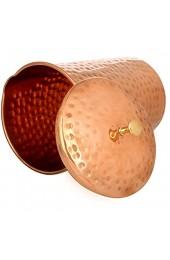 Zap Impex Reines Kupfer gehämmerter Krug mit Deckel für die gesundheitlichen Vorteile 1200 Ml
