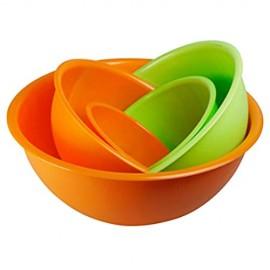 5-teilig Salatschüssel Rührschüsseln. 5 Durchmesser 14-18 - 23-26 - 30 cm. Geeignet für Mikrowelle und Spülmaschine. 100% Made in Italy.