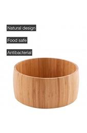 Bambus Salatschüssel Rund fur bis zu 8 Personen zu servieren extra groβ 25 cm Durchmesser Holz Optik braun