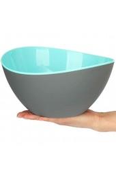 COM-FOUR® 3-teiliges Set Salatschüsseln große dekorative Schüsseln für Salat Obst Snacks und vieles mehr spülmaschinengeeignete Schalen