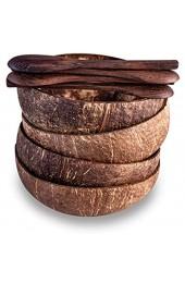 Kaloogo Cocobowl Nature Kokosnuss Schalen 4er Geschenk-Set (naturbelassen)
