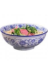 Keramiksuppenschüssel Ramenschale nach chinesischer Art Unterglasurschalen aus Porzellan für Haferbrei Nudeln Salat Ramen