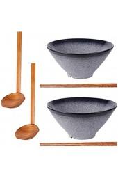 Noble Createaprototype Ramen Schüssel aus Keramik Japanischer 2 Sets (6 Stück) 1000ml Ramen Schüssel Vintage Ramen Bowl Salatschüssel für Udon Soba Pho Asiatische Nudeln …