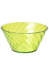 Omada Design Schüssel für die Küche mit Diamantwirkung aus Durchsichtigen Acryl. Durchmesser 20 cm Fassungsvermög 1 6 L. Made in Italy Stapelbar und Spülmaschinenfest Linea Diamond Grüne Farbe