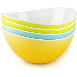 Salatschüssel Kunststoff als Pastageschirr oder große Rührschüsseln - 4er Set