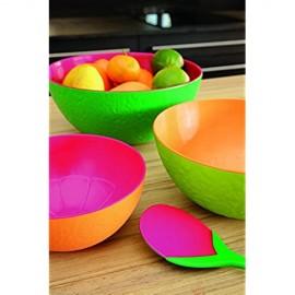 zak! Designs Wassermelonenschüssel 24 cm grün/Grapefruit