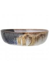 Bloomingville Servierschale Jules naturfarben grau braun blau Keramik