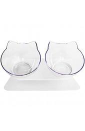 Globalqi Cat Double Bowl Rutschfeste Futterschale für Haustiere und Wasser ideal für Katzen und kleine Hunde