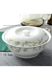 Servierschalen 9 Zoll Bone China Geschirr Großer Suppentopf Suppe Becken Mit Deckeln Suppenschüssel Startseite Für Catering und Zuhause