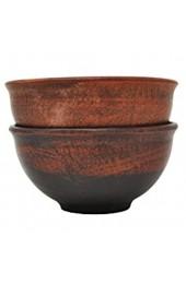 Set von 2 Terrakotta-Schalen - Durchmesser 10 5 cm - Handmade - Ukraine