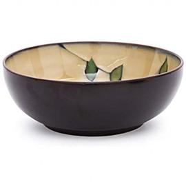 WSHFHDLC Volkskultur Schüssel 23cm im japanischen Stil Suppe/Salat tief personalisierte handbemalte Keramik-Schale/Haushaltsgroß underglaze Geschirr/Geschirr/Schalen Volkskultur Schale (Color : 2)