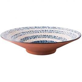 WSHFHDLC Volkskultur Schüssel Müslischü japanische Ramen-Schüssel Pasta Bowl Haushalt Grain Bowl große Kapazitäts-Salatschüssel Vintage-Keramik Suppenschüssel Eiscreme-Dessert Bowl Volkskultur Schale