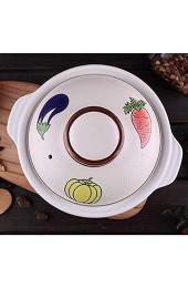 ZYYH Herd Keramik Auflauf brutzelnden heißen Topf für Bibimbap und Suppe Jjiage Koreanisches Essen koreanische Steinschale Bai 0.73quart