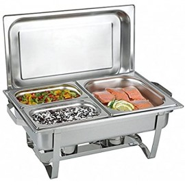 Chafing Dish Multi - Twin Set 16 tlg. incl. 4 Brennpastenbehälter