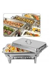 DiLiBee 9L Chafing Dish Speisenwärmer Buffet Edelstahl Warmhaltebehälter Rechaud Warmhaltegerät