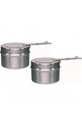 Gastro-Bedarf-Gutheil Ersatz Brennpastenbehälter aus Edelstahl für Brennpaste Chafing Dishes Fondue Speisewärmer (10er Pack)