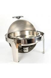 MINUS ONE 6 8L Rund Chafing Dish Edelstahl Warmhaltebehälter für Catering Buffet Party Speisewärmer