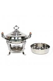 RainWeel Runden Edelstahl Warmhaltebehälter Chafing Dish Speisenwärmer Lebensmittelisolierung 43 * 33 5 * 40 cm