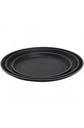 """APS Tablett """"Gastro"""" schwarzes Serviertablett Tablett aus GFK mit rutschfester Oberfläche Ø 40 5 x Höhe 2 cm schwarz"""