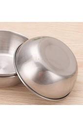 BESTONZON 4 stücke Edelstahl Saucenschalen Runde Gewürz Gerichte Sushi Dip Schüssel Untertassen Schüssel Mini Vorspeise Platten