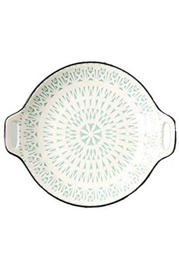 LLSS Teller/Vorspeisenplatten Keramik Doppelgriff Snackplatte Vorspeisenplatte Sushi-Platte Unterglasur Farbscheibe Universal Sauce Platte Obstteller Schüssel Sets