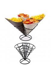 Marginf 4-in-1 Pommes Frites Halterung Korb Schwarz Eisen Eisstand Form Regal Lebensmittel Schüssel Küche Kartoffel Chips Vorspeisen