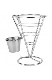 Pommes Frites Stand - Überzug Pommes Frites Stand Buffet Cone Snacks Display Stand Pommes Frites Körbe(Single)