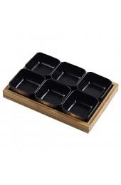 Xiaoli Snackschale Japanische Stil-Sauce-Teller - Dip-Schalen-Set von 6 Porzellan-Beilage Tauchschalen Square für Sojasauce Ketchup BBQ-Chip Gewürz Dipschale (Color : E)