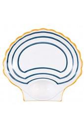 IHZ Japanische Knödelplatte Sushi-Platte mit Essigplatte Haushalts-Servierteller Keramik-Pommes-Frites-Fachplatte(Color:B)