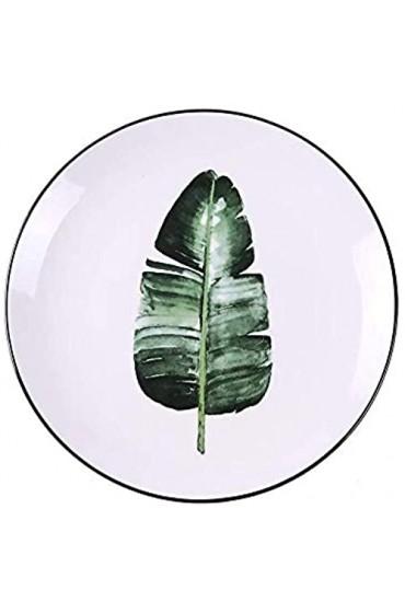 KEKEYANG Grünpflanze Keramik Teller kreative Karikatur-Frucht-Platte Heim Western Steak Dish Dish Set Keramikgeschirr Tablett 8 cm Platten