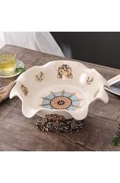 Moderne und einfache amerikanische harz keramik obst platte europäisch runde obst platte wohnzimmer kaffee tisch dekoration handwerk ornamente WTZ012