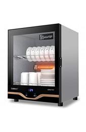 MXRqndqa Wärmegeräte Haushalt Kleiner gehärteter Glastür Desinfektionsschrank Einstellbarer Fuß 53l Kapazität Desinfektionsschrank Touchscreen-Betrieb Desktop 2-Layer-Shelf-Geschirrschrank