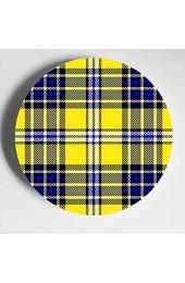 Nette gelbe Gitter Kleine Platte Display Dekorationsplatten Home Wobble-Platte Mit Display Stand Dekoration Haushalt China Keramikplatten