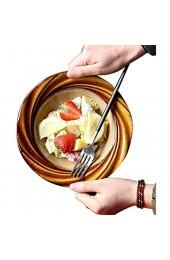 QTQZ Geformte Keramikschale kreatives Geschirr - Home Steak Dish - Salatdessert - glatt und bequem