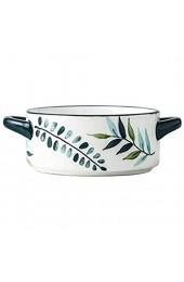 Sywlwxkq Suppenschüsseln mit Griff Keramik Western Food Teller Obstsalat Dim Sum Frühstück Instant-Nudeln Pflanze nach nordeuropäischer Art-180ML