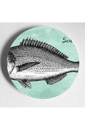 Verschiedene Unterwasser Tiere Keramikplatten Kinder Display Platte Home Wobble-Platte Mit Display Stand Dekoration Haushalt Bunte Keramikplatten